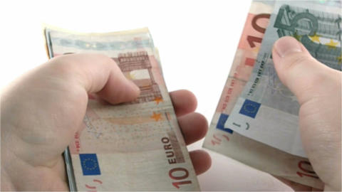 Counting euros Stock Video Footage