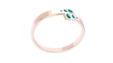 Pink gold ring Animation