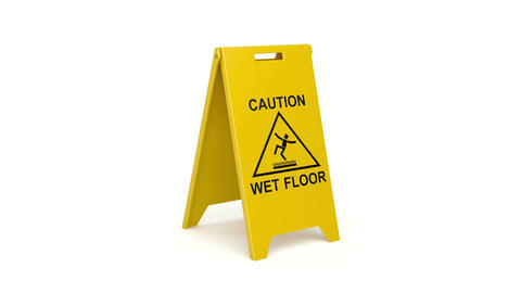 Wet floor sign Animation