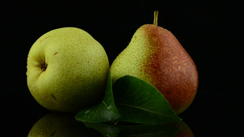Two pears Stock Video Footage