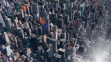aerial view of New york Manhattan,spectacular city... Stock Video Footage