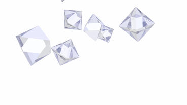 blue diamond & crystal geometric Polyhedron in space Stock Video Footage
