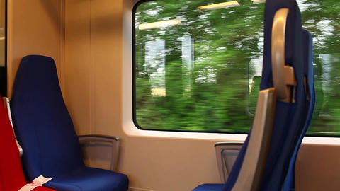 Train Seats 264 stock footage