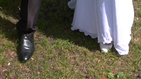 Wedding, Feet stock footage
