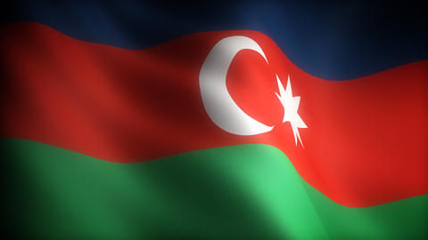 Flag of Azerbaijani Stock Video Footage