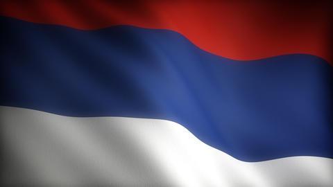 Flag of Serbia Animation