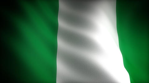 Flag of Nigeria Stock Video Footage
