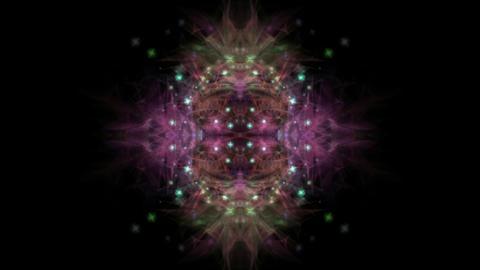 starfield & flare particles shaped mandala flower pattern & kaleidoscope Animation