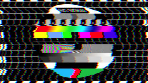Bad TV - II - Glitchy Noise & Sound Stock Video Footage