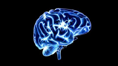 Indigo Brain Sparking - Loop + Alpha Stock Video Footage