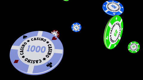Casino Chips - Flying Loop II Animation