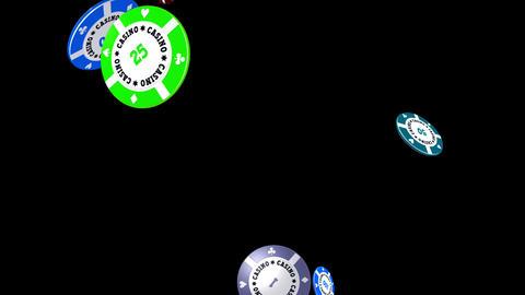 Casino Chips - Flying Loop II Stock Video Footage