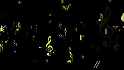 Music Notes Flow - Loop Animation