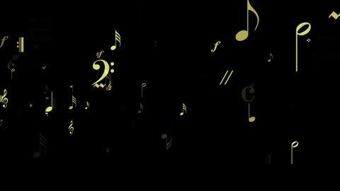 Music Notes Flow - Loop Stock Video Footage