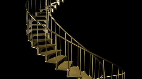 Stairway To Heaven - Loop + Alpha Stock Video Footage