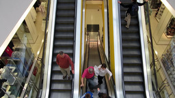 Escalator Stock Video Footage