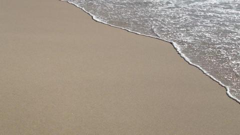 Ocean waves on the beach sand Stock Video Footage