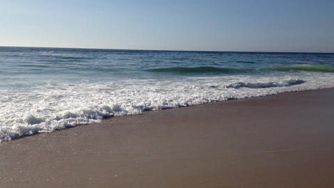 Ocean waves on the beach sand Stock Video Footage