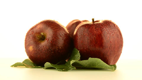 Two apples Stock Video Footage