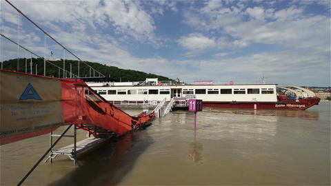 2013 Flood Budapest Hungary 1 stock footage