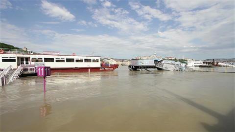 2013 Flood Budapest Hungary 3 Stock Video Footage