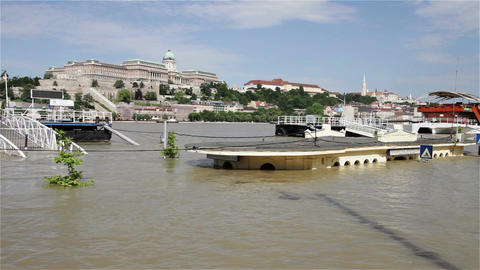 2013 Flood Budapest Hungary 11 Stock Video Footage