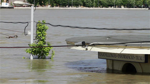 2013 Flood Budapest Hungary 13 Stock Video Footage