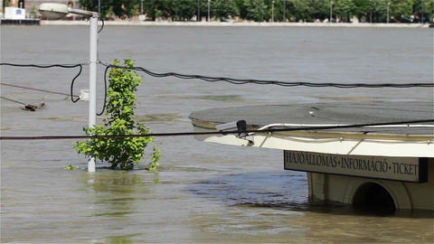 2013 Flood Budapest Hungary 13 Stock Video Footage