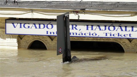 2013 Flood Budapest Hungary 17 Stock Video Footage