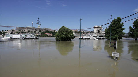 2013 Flood Budapest Hungary 21 Stock Video Footage