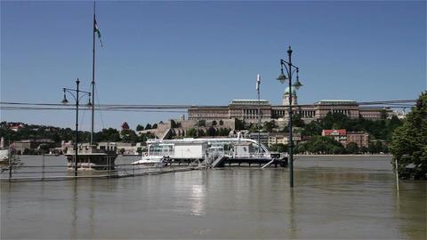 2013 Flood Budapest Hungary 23 Stock Video Footage