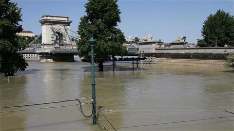 2013 Flood Budapest Hungary 25 Stock Video Footage