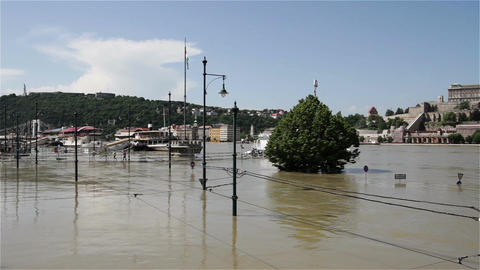 2013 Flood Budapest Hungary 27 Stock Video Footage