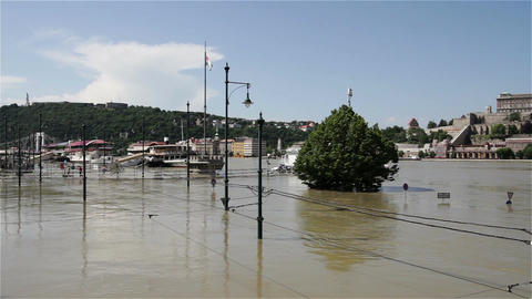 2013 Flood Budapest Hungary 27 stock footage
