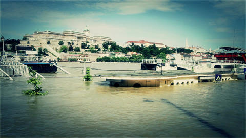 2013 Flood Budapest Hungary 35 stylized Footage