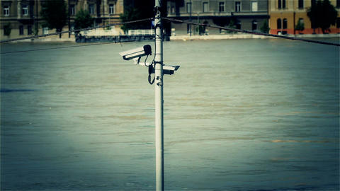 2013 Flood Budapest Hungary 37 stylized Stock Video Footage