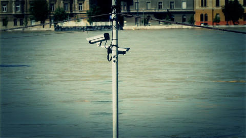 2013 Flood Budapest Hungary 37 Stylized stock footage