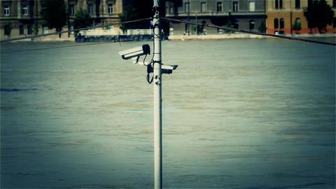2013 Flood Budapest Hungary 37 stylized Stock Video Footage