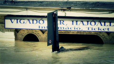 2013 Flood Budapest Hungary 39 stylized Stock Video Footage