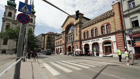 2013 Police Closed Area Flood Budapest Hungary 5 Stock Video Footage