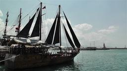 Alanya Turkey 18 port Stock Video Footage