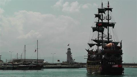 Alanya Turkey 20 port Stock Video Footage