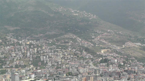 Alanya Turkey 36 aerial from alanya castle Stock Video Footage