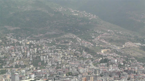 Alanya Turkey 36 aerial from alanya castle Footage