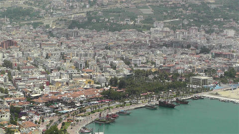 Alanya Turkey 50 aerial Stock Video Footage