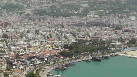 Alanya Turkey 50 aerial Stock Video Footage