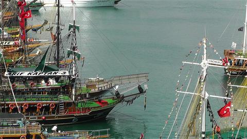 Alanya Turkey 72 port Stock Video Footage