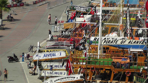 Alanya Turkey 78 port Stock Video Footage