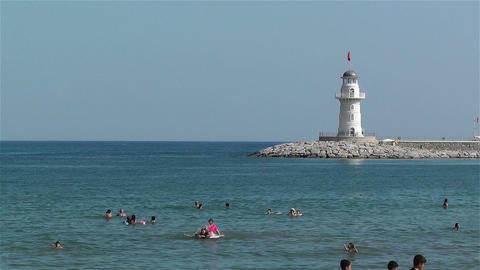 Alanya Turkey 80 lighthouse Stock Video Footage