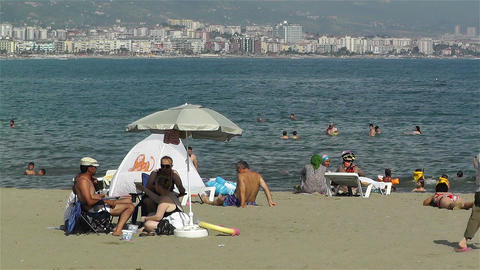 Alanya Turkey 84 beach Stock Video Footage